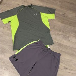 Under armour set shorts and top large